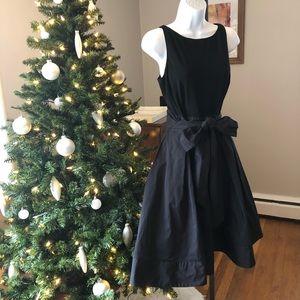 Lauren by Ralph Lauren Black Wrap Dress - Size 10